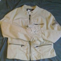 William Rast for Target jacket Tan jacket with ruching in front along zipper in back and on sleeves.  William Rast for Target William Rast Jackets & Coats