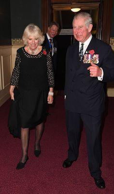 12 November 2016 - The Royal British Legion 'Festival of Remembrance' at The Royal Albert Hall   Britain's Prince Charles, Prince of Wales &  Britain's Camilla, Duchess of Cornwall.