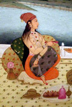 Noblewoman on a terrace - detail