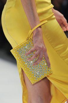 Blumarine at Milan Fashion Week Spring 2014 - Details Runway Photos Yellow Fashion, Gold Fashion, Colorful Fashion, Milan Fashion, Jaune Orange, Blue Dream, Mellow Yellow, Color Yellow, Bright Yellow