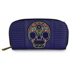 Purple Leopard Boutique - Loungefly Blue Sugar Skull With Flowers Quilted Wallet, $38.00 (http://www.purpleleopardboutique.com/loungefly-blue-sugar-skull-with-flowers-quilted-wallet/)