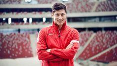 #Lewandowski #Lewy #Poland Poland National Team, Robert Lewandowski, Leather Jacket, Anna, Polish, Boys, Fc Bayern Munich, Studded Leather Jacket, Baby Boys