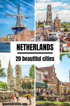 Want to see more of the Netherlands? Discover the country with 20 of the best cities of the Netherlands. Find out which are the most beautiful places to visit on your trip to the Netherlands. Get inspired to visit some of the most amazing Dutch cities and Voyage Europe, Europe Travel Guide, Europe Destinations, Amazing Destinations, Travel Tips, Travel Info, Travel Goals, Travelling Tips, Holland