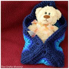 Crochet Patterns Sleeping Bag granny square sleeping bag for teddy Bag Crochet, Love Crochet, Crochet Granny, Crochet For Kids, Crochet Dolls, Crochet Stitches, Crochet Baby, Baby Knitting Patterns, Crochet Patterns