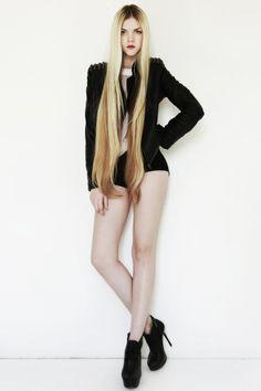 Long hair and longer legs!