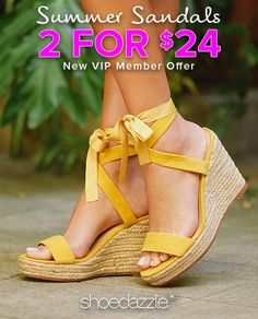 """Spring Styles are In - Get Your First 2 Styles for Only $24! Make sure you're up to date on the hottest new trends by signing up as a Shoedazzle VIP. You'll enjoy a new boutique of personalized styles each month, as well as exclusive pricing, early access to sales & free shipping on orders over $39. Don't think you'll need something new every month? No problem - click """"Skip The Month"""" in your account by the 5th and you won't be charged. Take the Style Quiz today to get this exclusive offer."""