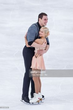 Aliona Savchenko and Bruno Massot of Germany compete during Pairs Short Program on day one of the Trophee de France ISU Grand Prix of Figure Skating at Accorhotels Arena on November 11, 2016 in Paris, France.