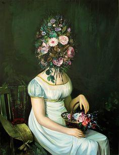 Ewa Juszkiewicz / arte, pintura, rostro, cara