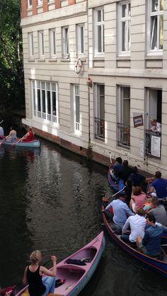 Bootstour und frischer Kaffee in der Mittagspause? Das Café Canale macht's möglich!