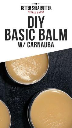 Homemade Body Butter, Homemade Lip Balm, Diy Lip Balm, All Natural Skin Care, Natural Lip Balm, Hair Balm, Lip Balm Recipes, Lip Moisturizer, Skin Food
