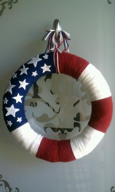 My finished version of 4th of July summer wreath!