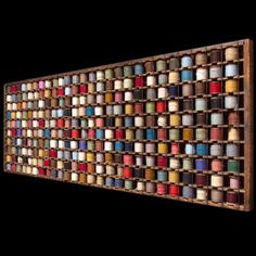 Industrial Wooden Rack for Wool Yarn Bobbins :: Obsolete