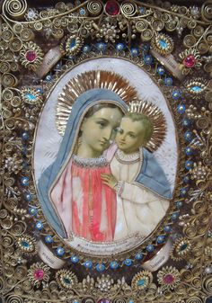 """allaboutmary: """"Mater Boni Consilii A century Germany reliquary of Our Lady of Good Counsel. Jesus Mother, Blessed Mother Mary, Blessed Virgin Mary, Religious Pictures, Religious Icons, Religious Art, Virgin Mary Art, Catholic Crafts, Mama Mary"""
