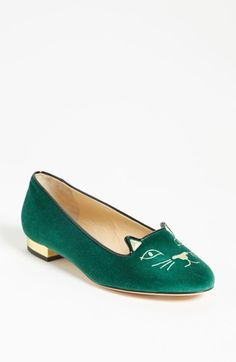 Charlotte Olympia 'Cat Face' Slipper available at #Nordstrom    Love these shoes in all the colors offered!!
