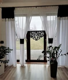 Panel, Interior Decorating, Windows, Curtains, Living Room, Home Decor, Gardening, Houses, House Styles