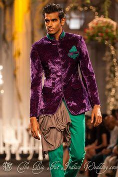 The joker look? - I can't stop thinking about Batman when looking at this - Shantanu & Nikhil at Aamby Valley Bridal Week 2012