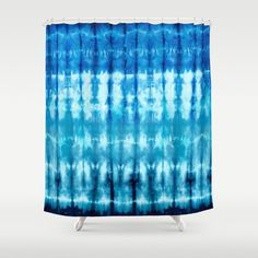 Shibori Ombre Nori Shower Curtain by ninamay | Society6