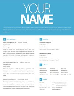 Resumés by Tyler Norris, via Behance