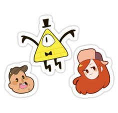 """Gravity Falls 3"" Stickers by toifshi 