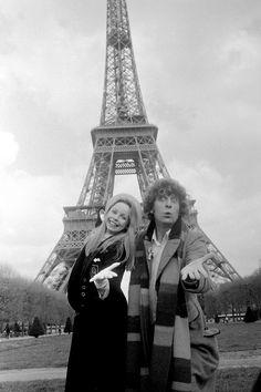 Lalla Ward and Tom Baker
