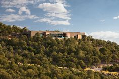 Rick Torcasso's 5,600-square-foot home sits on a ridge overlooking Santa Fe.