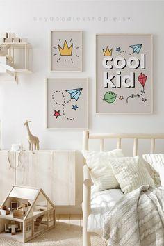 Toddler Boy Room Decor, Boys Room Decor, Kids Room, Nursery Signs, Nursery Wall Art, Nursery Decor, Art Wall Kids, Wall Art Sets, Photo Frame Display