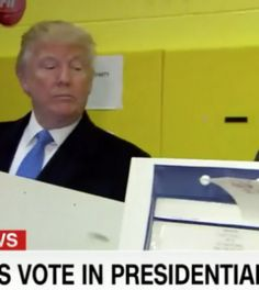Trump Checks If His Wife Is Voting Clinton or Trump