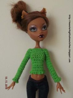 handmade Monster High clothes/ropa/kleidung/vêtements -SWEATER- J24 (NOT DOLL)