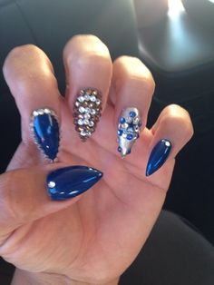 Dallas Cowboys Nail Like The Colors Hate The Shape Of The Nails