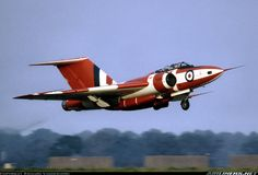 "Gloster Javelin FAW9 XH897 of ""A"" Fighter Test Squadron A&AEE, departing after static display at the 1971 Coltishall Battle of Britain Day, 18th September 1971."