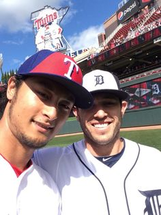 with Yu Darvish before the 2014 MLB All-Star Game (7/15/14)