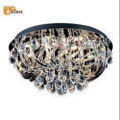 Nuevo de lujo candelabros de cristal moderna lámpara chandelier salón dormitorio ronda LLEVÓ LA luz