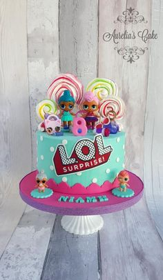 LOL cake - cake by Austria's Cake Doll Birthday Cake, Funny Birthday Cakes, Pink Birthday Cakes, 6th Birthday Parties, 7th Birthday, Birthday Ideas, Lol Doll Cake, Lol Dolls, Girl Cakes