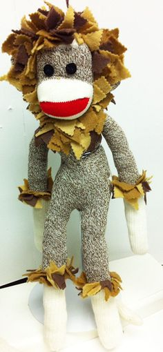 Hey, I found this really awesome Etsy listing at https://www.etsy.com/listing/207522088/sock-monkey-in-wizard-of-oz-cowardly