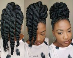 Care : these chunky twists make protective styling easy peasy [ Naturel Hair Care : these chunky twists make protective styling easy peasy.[ Naturel Hair Care : these chunky twists make protective styling easy peasy. Pelo Natural, Natural Hair Updo, Natural Hair Journey, Natural Hair Care, Natural Updo Hairstyles, Natural Curls, Simple Hairstyles, Modern Hairstyles, Beautiful Hairstyles