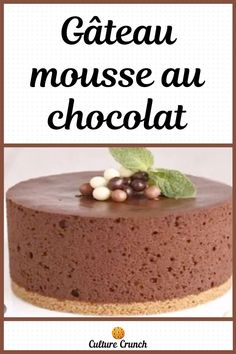 Desserts With Biscuits, French Food, Biscuit Recipe, Chocolate Cake, Food To Make, Deserts, Dessert Recipes, Pudding, Baking