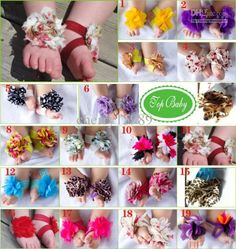 Wholesale New arrival TOP BABY Sandals baby Barefoot Sandals Foot Flower Foot Ties girls Toddler Shoes 10pairs, Free shipping, $0.95-1.08/Piece | DHgate