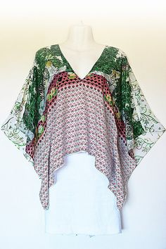 Made to Order Dessignr silk Kaftan Top by Molly by MollyKaftans