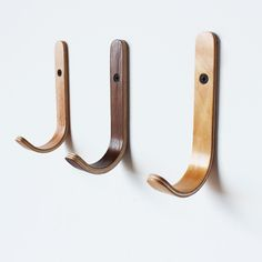 Plywood wall hook -- I need this instead of traditional towel racks in our bathrooms.