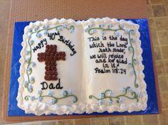 Best Photo of Christian Birthday Cakes Christian Birthday Cakes Bible Bir. Birthday Cale, Jesus Birthday, Themed Birthday Cakes, Themed Cakes, Birthday Ideas, Bible Cake, Cross Cakes, Religious Cakes, Pinterest Cake