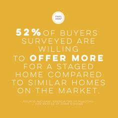 Home Staging Buyers Statistics Sell My House Fast, Selling Your House, Real Estate Staging, Real Estate News, Boutique Homes, A Boutique, Stage Quotes, Staging Furniture, Home Staging Tips