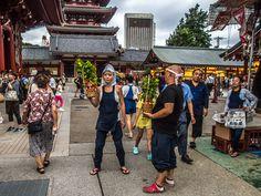 "Asakusa Hoozuki Ichi 7/20 The stalls or ""yatai"" go well beyond the Hozomon Gate #Asakusa, #Sensoji, #hoozuki, #Hozomon July 10, 2014. © Grigoris A. Miliaresis"