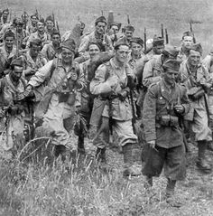Fanti italiani in uniforme di fatica - WWII - pin by Paolo Marzioli