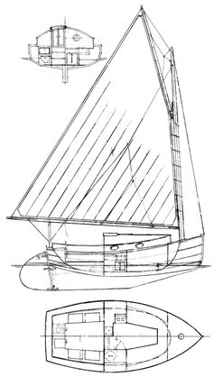 Catboat Line Drawings