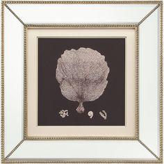 Coral Fan Coastal Beach Ivory Black Silhouette Mirror Frame Wall Art (4,890 CNY) ❤ liked on Polyvore featuring home, home decor, wall home decor, sea home decor, black home decor, coastal home decor and coral fan