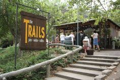 The Trails Cafe hidden away in Los Angeles' Griffith Park. Try the avocado sandwich and the apple pie.