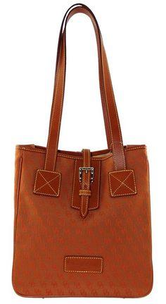 Dooney & Bourke Signature Jacquard Canvas & Leather SP144 EX Shoulder Tote Bag