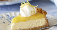 Add a touch of sunshine into your day with this sensational lemon cheesecake.