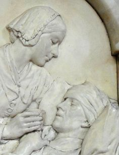 Memorial to Florence Nightingale by Arthur George Walker, R.A. 1861-1936. 1917. St. Thomas's Hospital Chapel, London, England