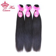 Reine Cheveux Produits Brésiliens Vierge Cheveux Raides 100% Non Transformés Vierge de Cheveux Humains Weave Bundles EXPÉDITION RAPIDE par QueenHair